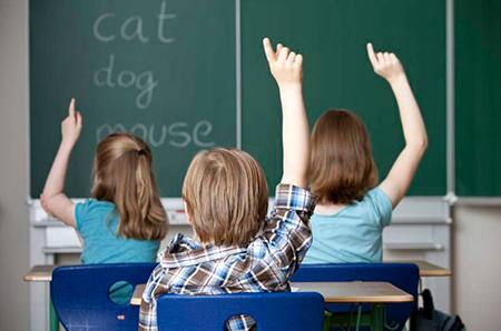 Niños aula inglés