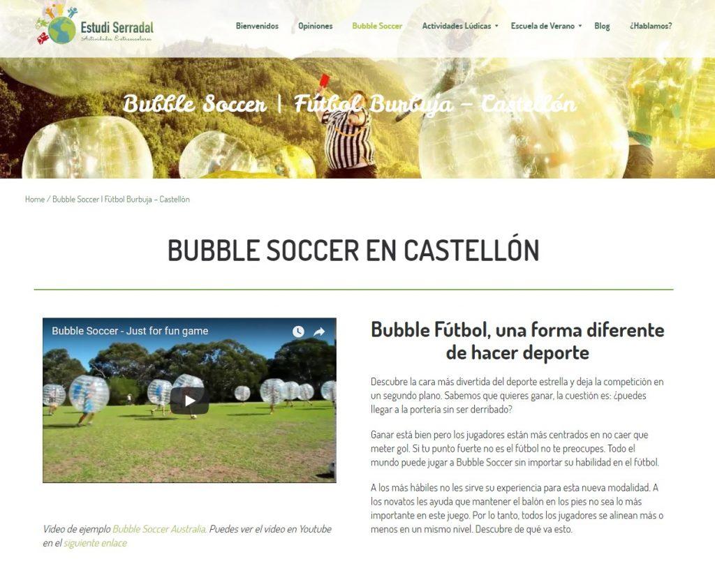 Bubble soccer Castellón